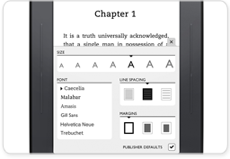 Customizable Display for NOOK Simple Touch